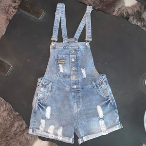 😍FUBU Overalls Denim Shorts😍